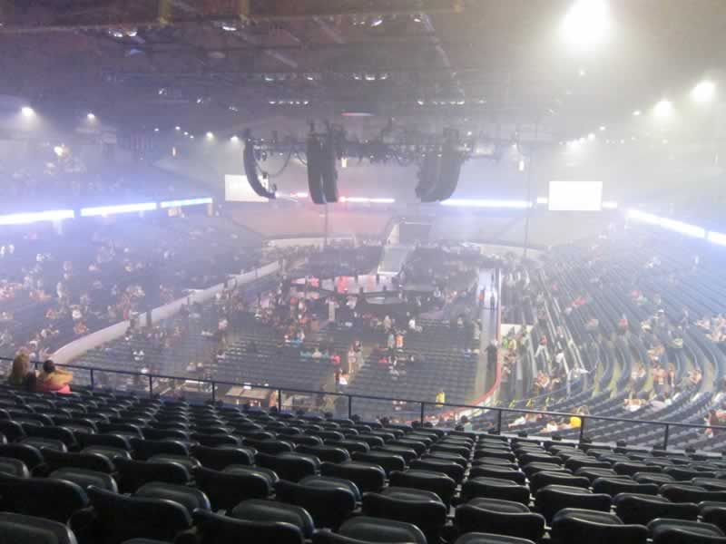 Concert Seat View for Allstate Arena Section 214, Row M, Seat 10