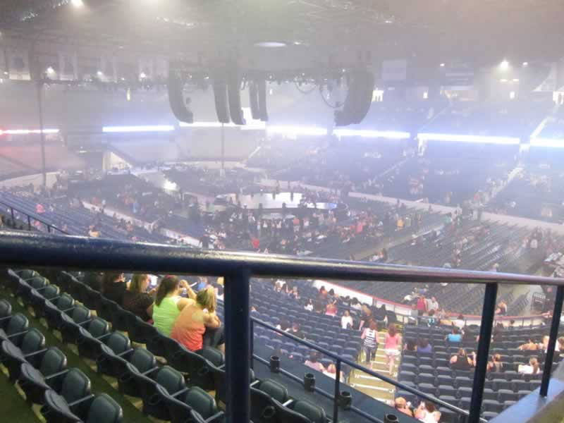 Concert Seat View for Allstate Arena Section 216, Row E, Seat 54