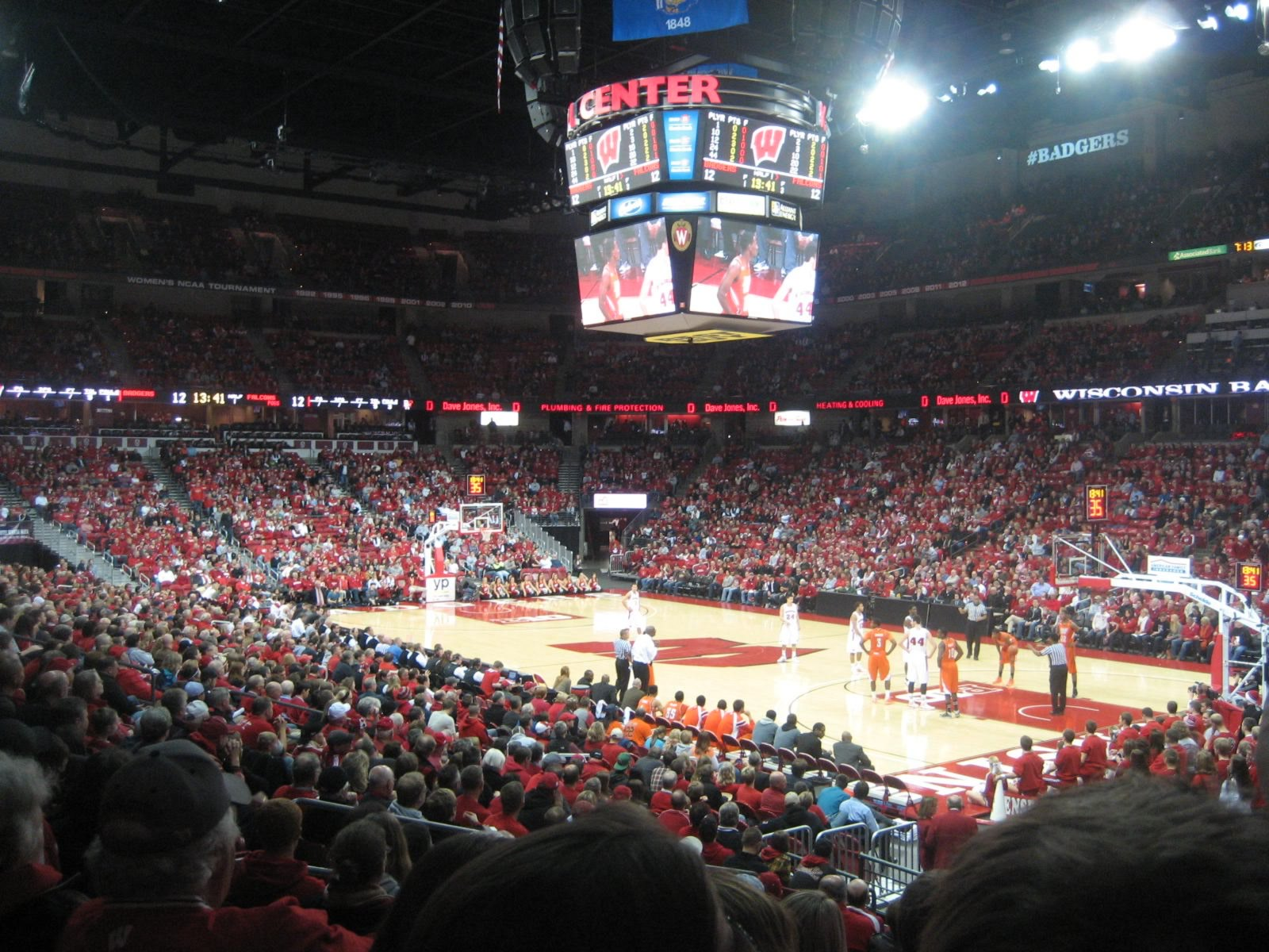 Seat View for Kohl Center Section 119, Row P, Seat 1