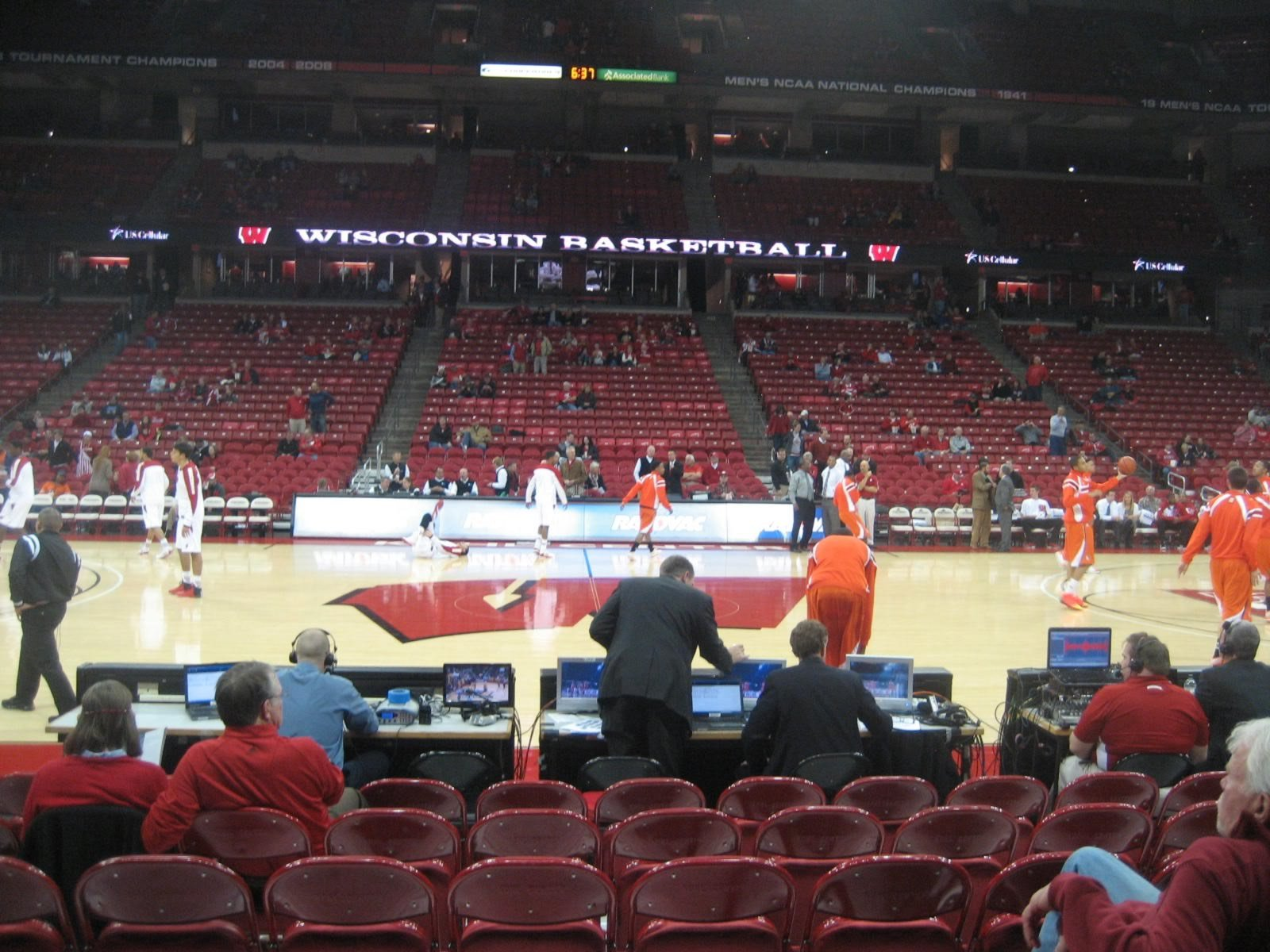 Seat View for Kohl Center Section 108, Row C, Seat 11