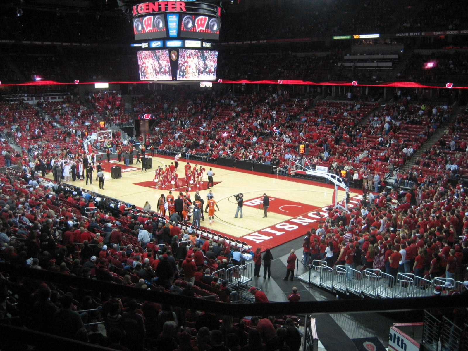Seat View for Kohl Center Section 217, Row A, Seat 1
