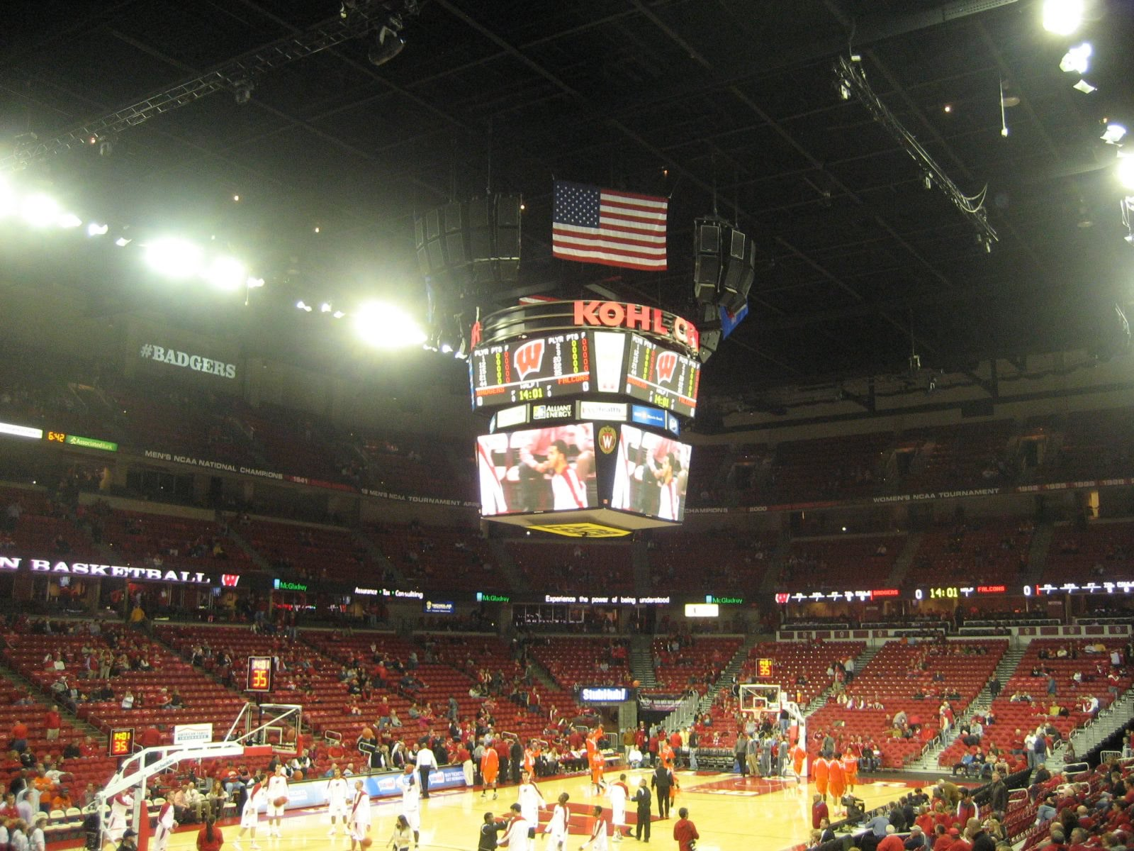 Seat View for Kohl Center Section 112, Row N, Seat 6