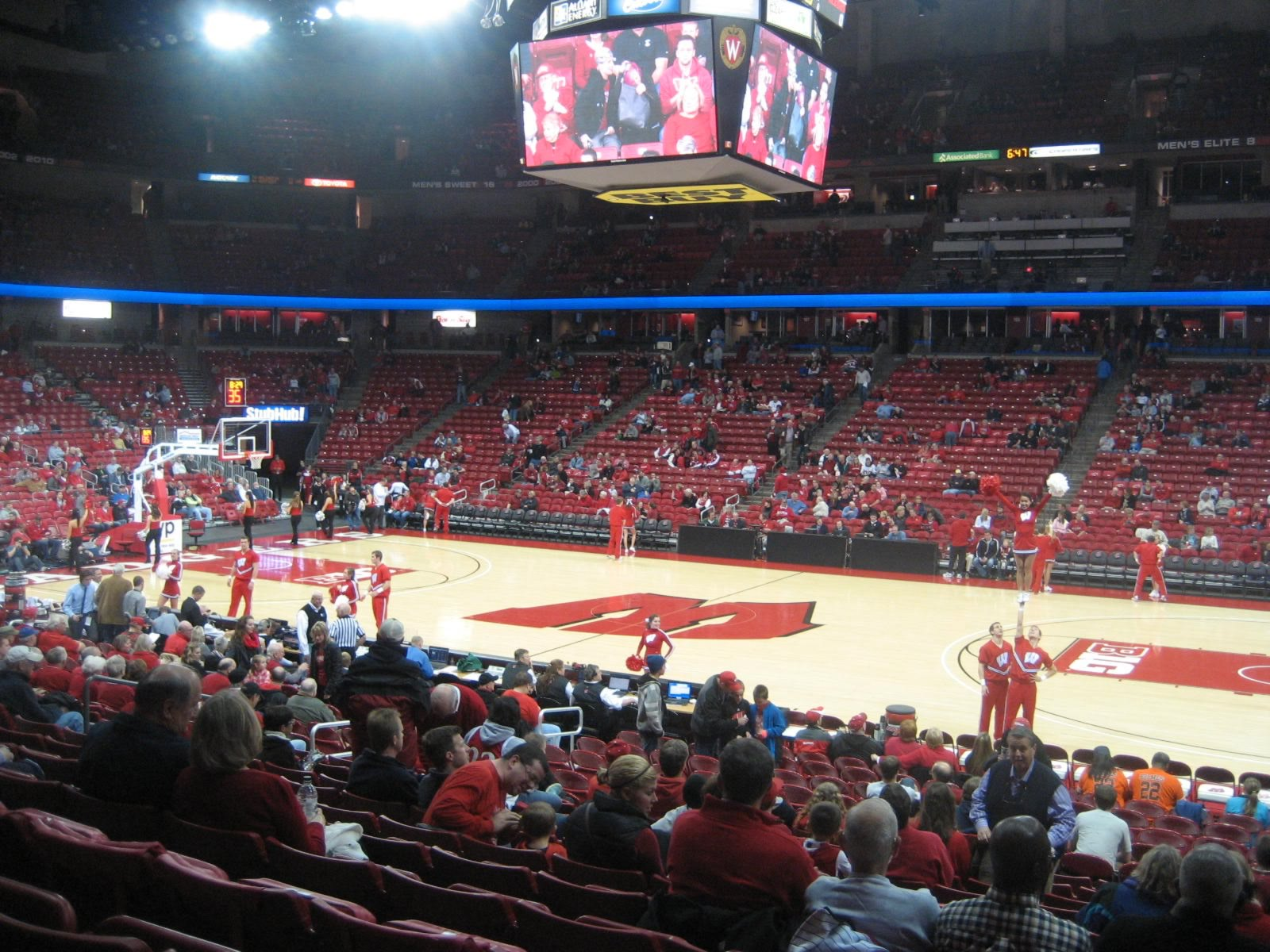 Seat View for Kohl Center Section 121, Row N, Seat 2