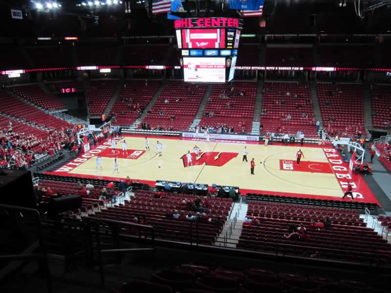 Seat View for Kohl Center Section 207, Row G, Seat 18