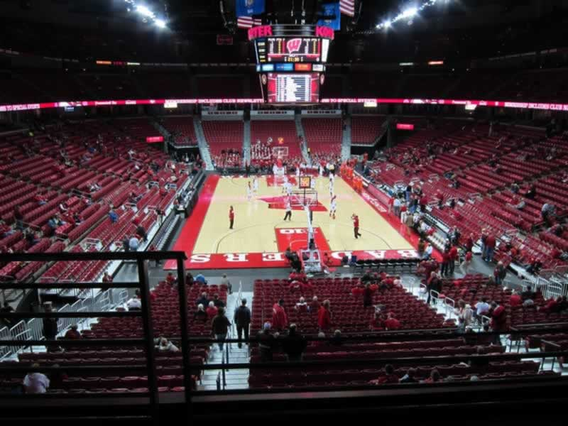 Seat View for Kohl Center Section 201, Row B, Seat 16
