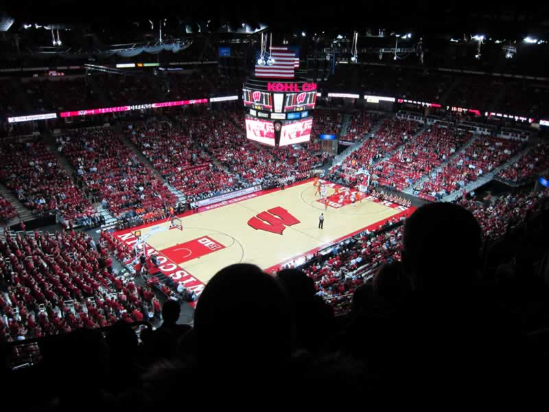 Seat View for Kohl Center Section 311, Row H, Seat 15