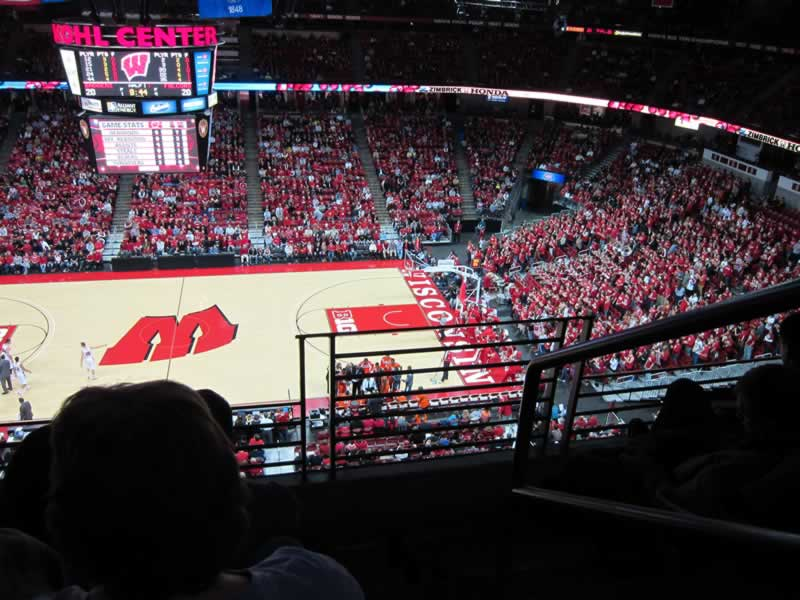 Seat View for Kohl Center Section 322, Row C, Seat 1