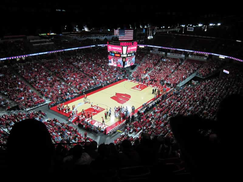 Seat View for Kohl Center Section 326, Row K, Seat 19
