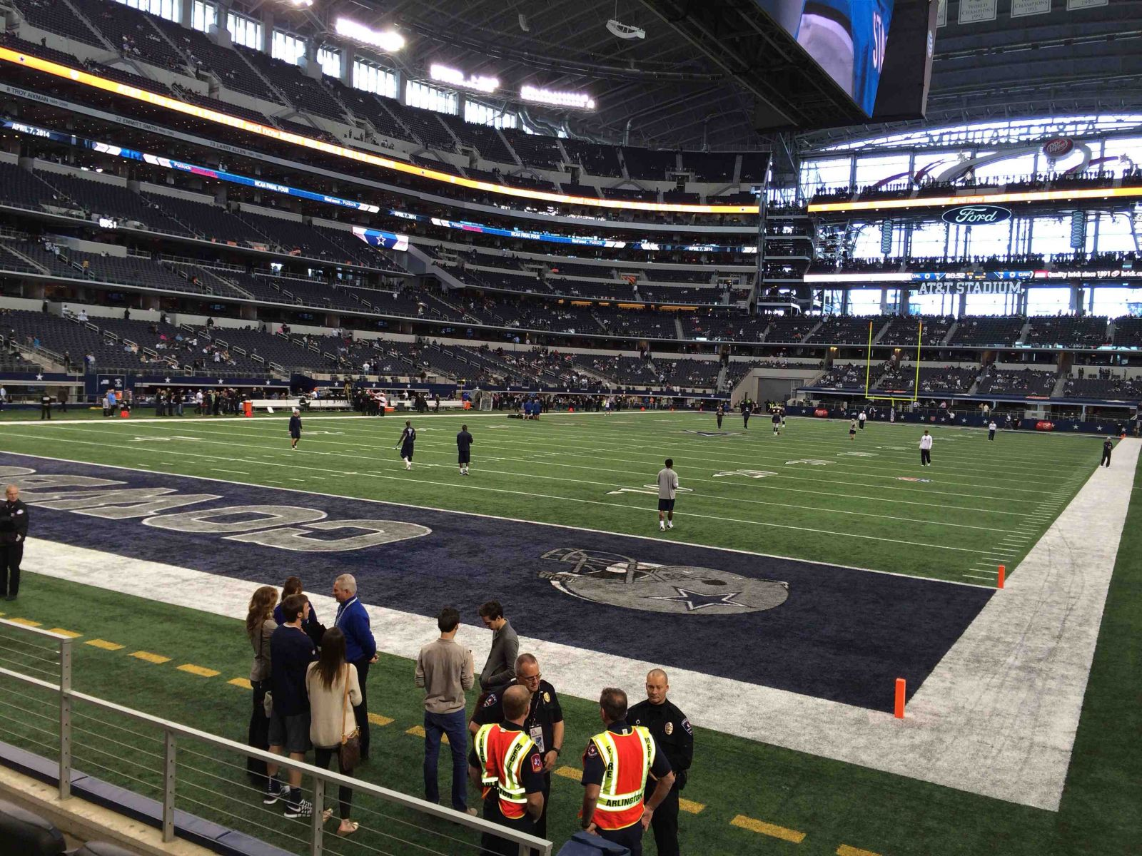Dallas Cowboys Seat View for AT&T Stadium Section 120, Row 8, Seat 1