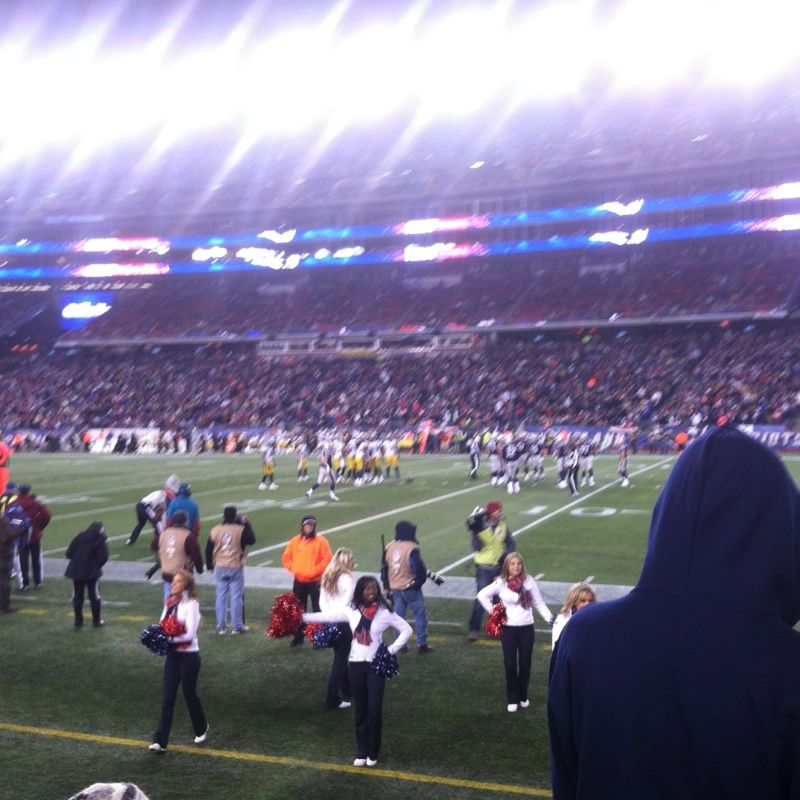 New England Patriots Seat View for Gillette Stadium Section 105, Row 3, Seat 3