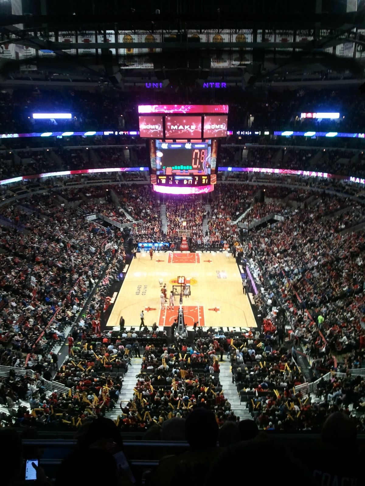 Chicago Bulls Seat View for United Center Section 309, Row 6, Seat 4