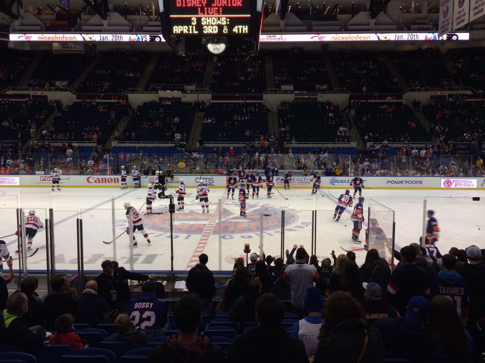 Seat View for Nassau Coliseum Section 203, Row A, Seat 3