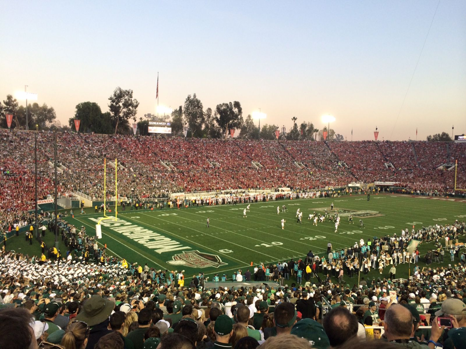Seat View for Rose Bowl Stadium Section 15, Row 38, Seat 7
