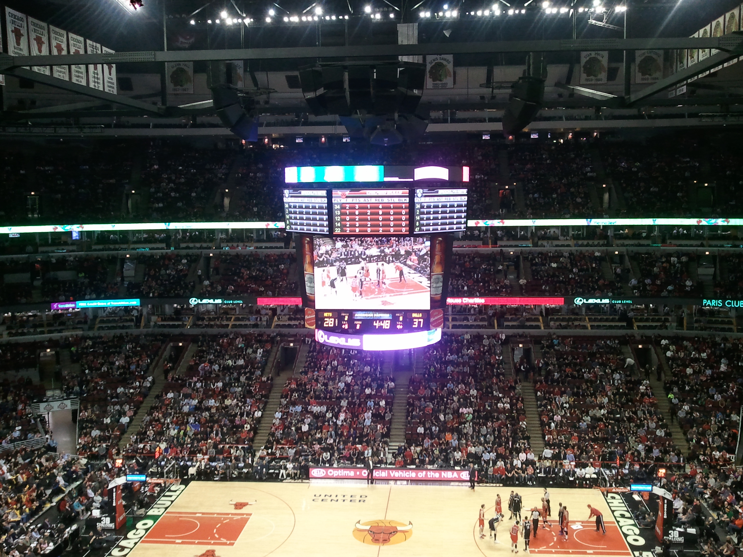 Chicago Bulls Seat View for United Center Section 317, Row 6, Seat 10