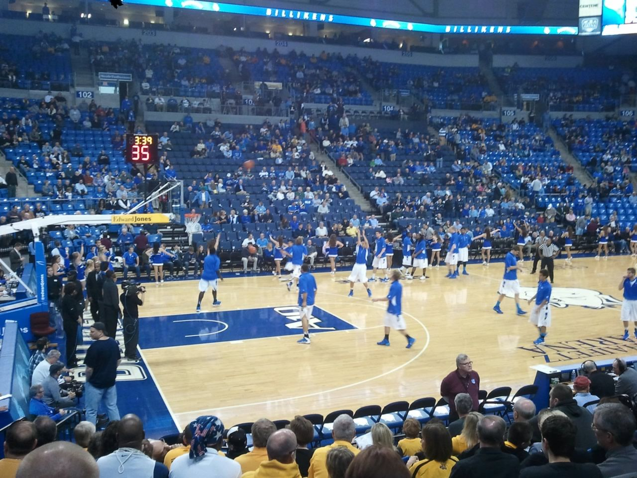 Seat View for Chaifetz Arena Section 116, Row K, Seat 9