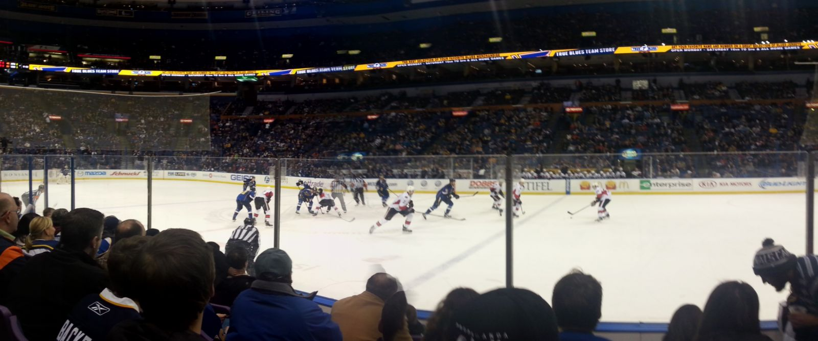 St. Louis Blues Seat View for Scottrade Center Section 114, Row E, Seat 7