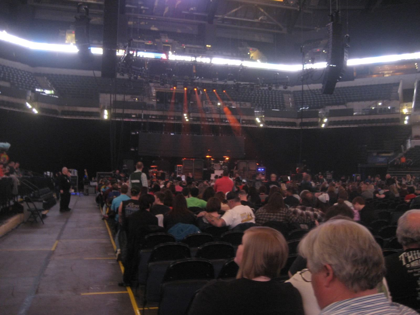 Concert Seat View for Bankers Life Fieldhouse Floor 3, Row 15, Seat 52