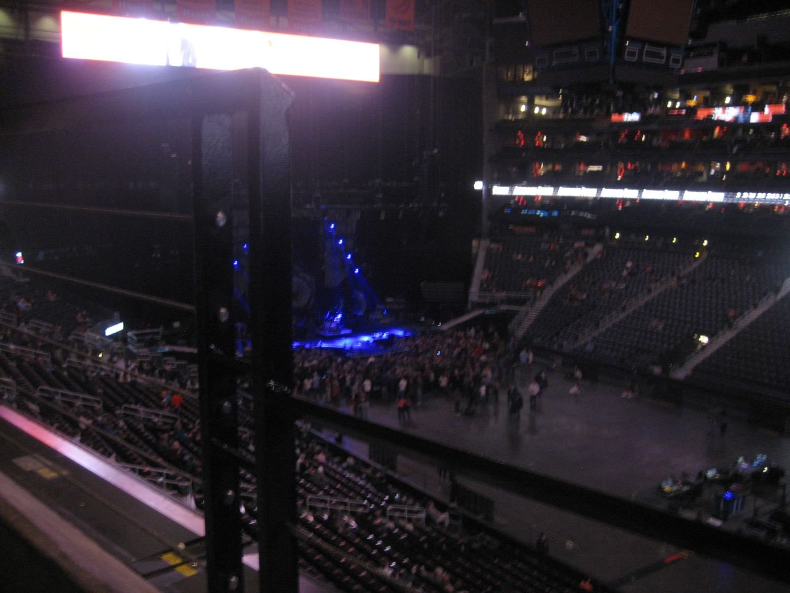 Concert Seat View for Philips Arena Section 307, Row A, Seat 17
