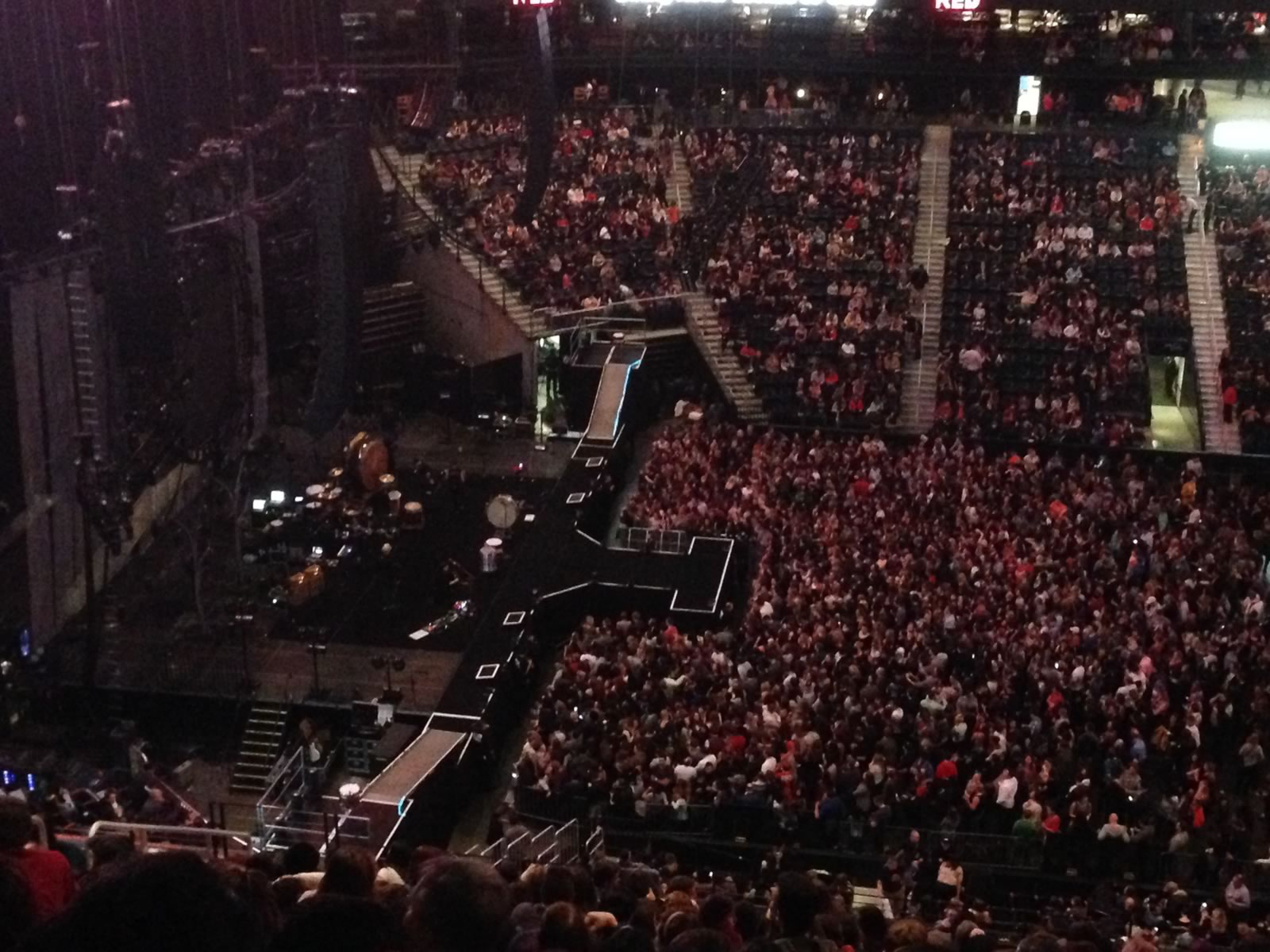 Concert Seat View for Philips Arena Section 312, Row S, Seat 7