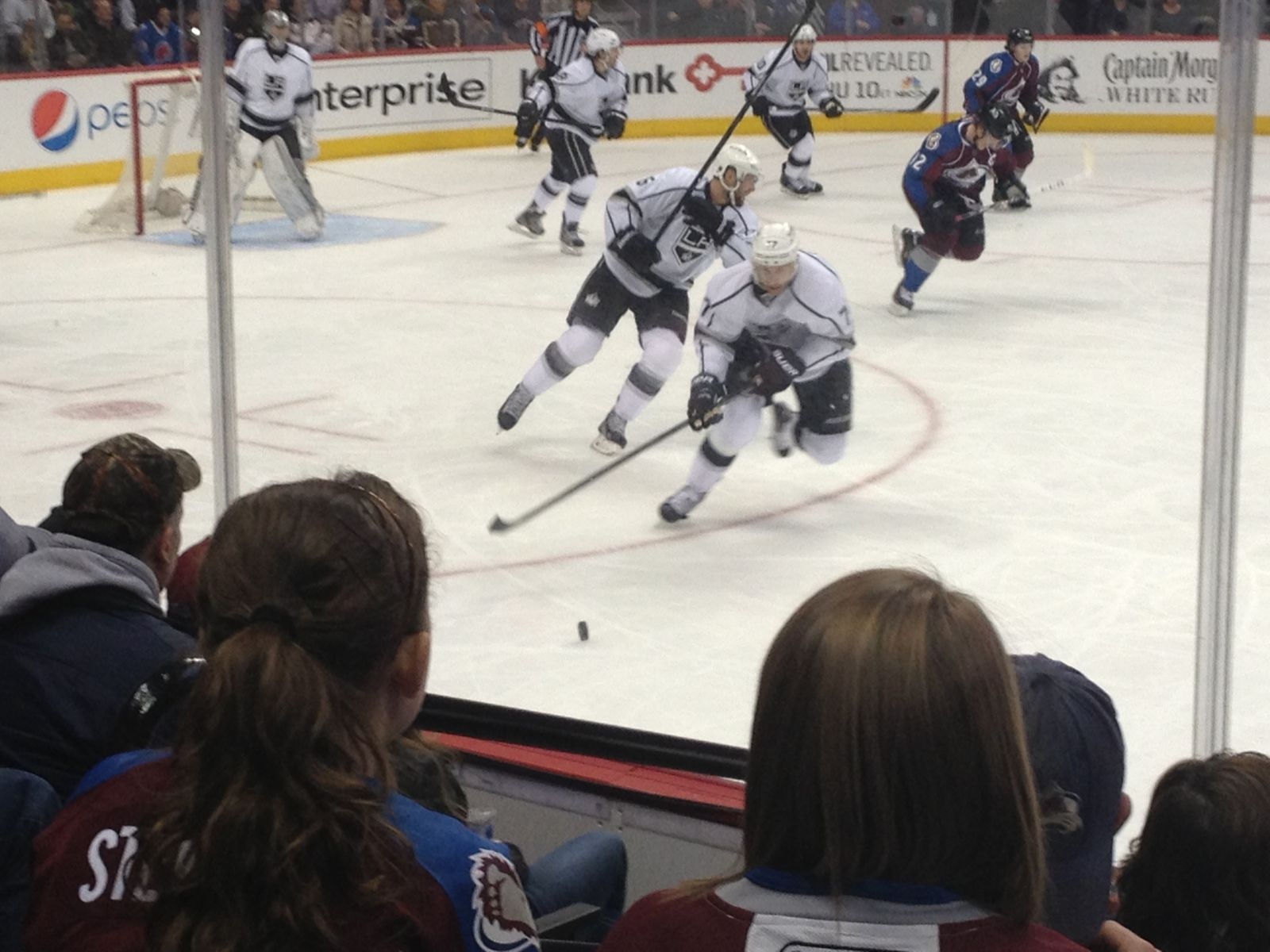Colorado Avalanche Seat View for Pepsi Center Section 126, Row 6, Seat 15