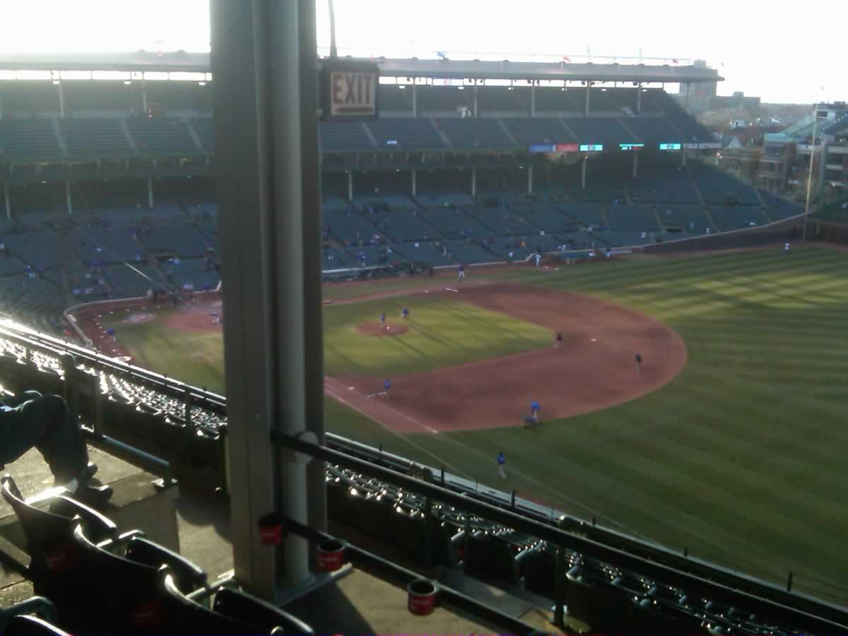 Seat View for Wrigley Field Section 429, Row 3, Seat 7