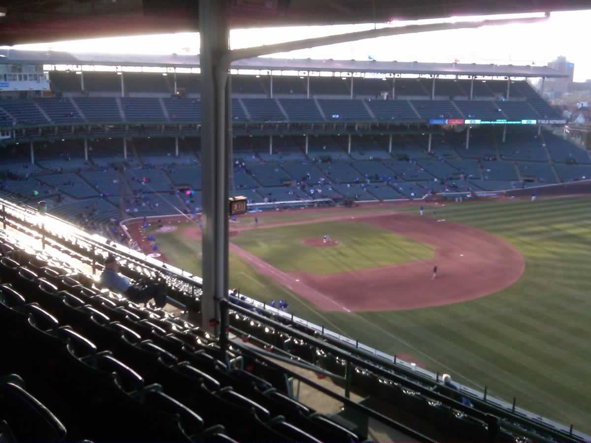 Seat View for Wrigley Field Section 538, Row 7, Seat 106
