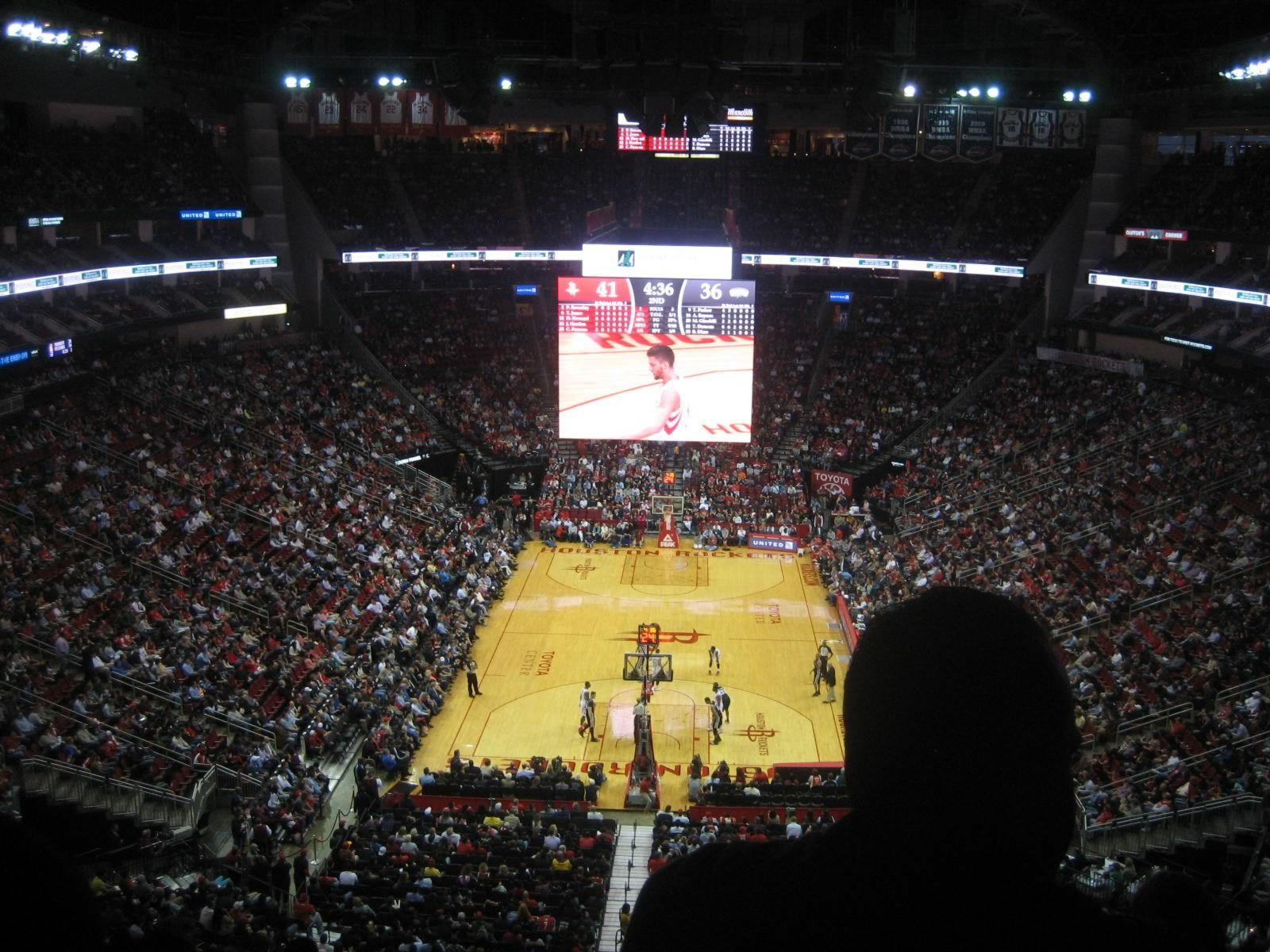 Seat View for Toyota Center Section 401, Row 10, Seat 3
