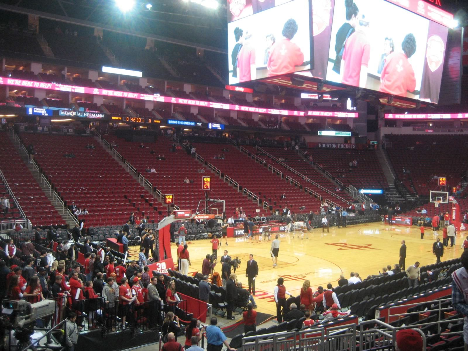 Seat View for Toyota Center Section 111, Row 15