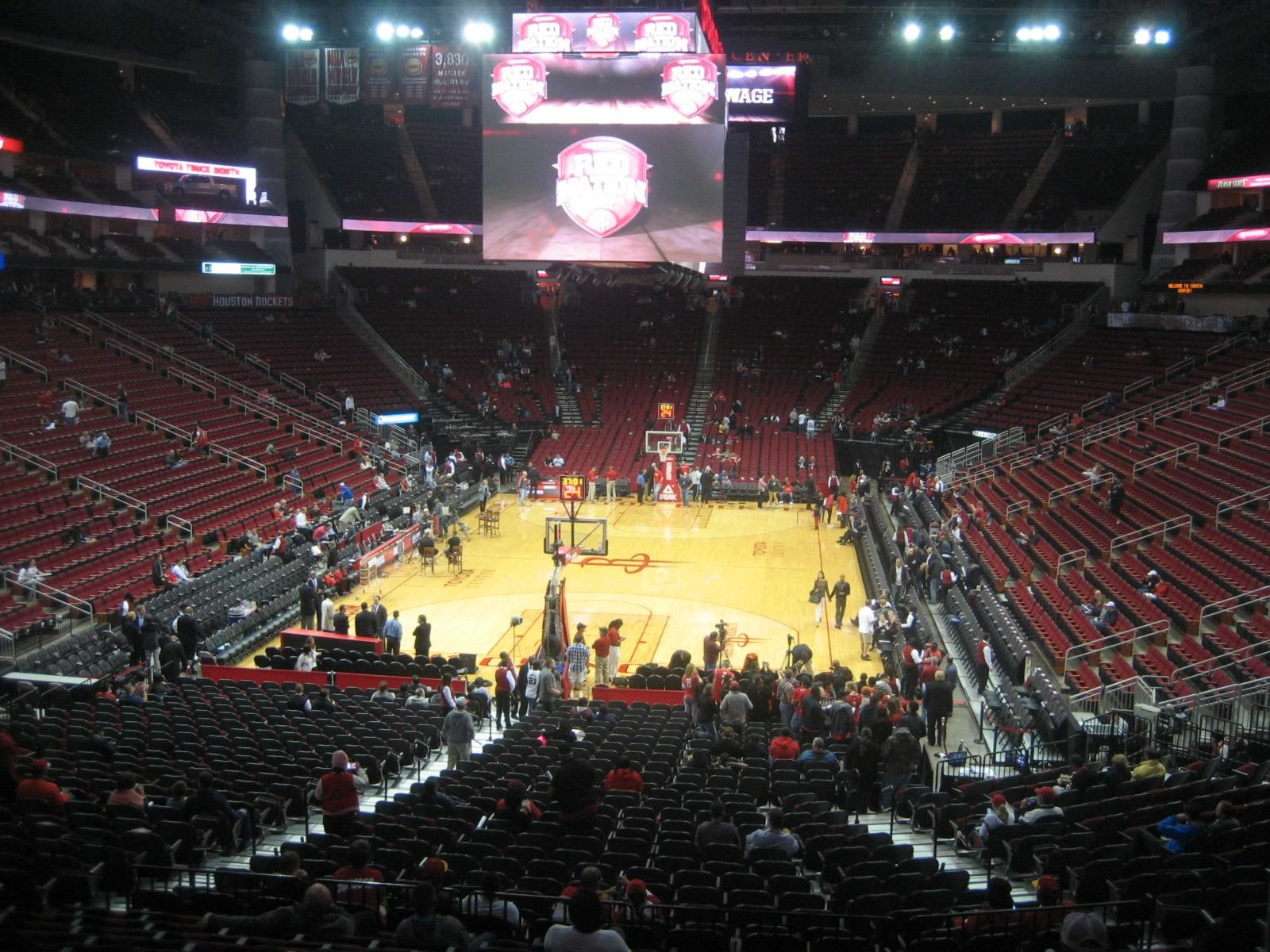 Seat View for Toyota Center Section 113, Row 27, Seat 8
