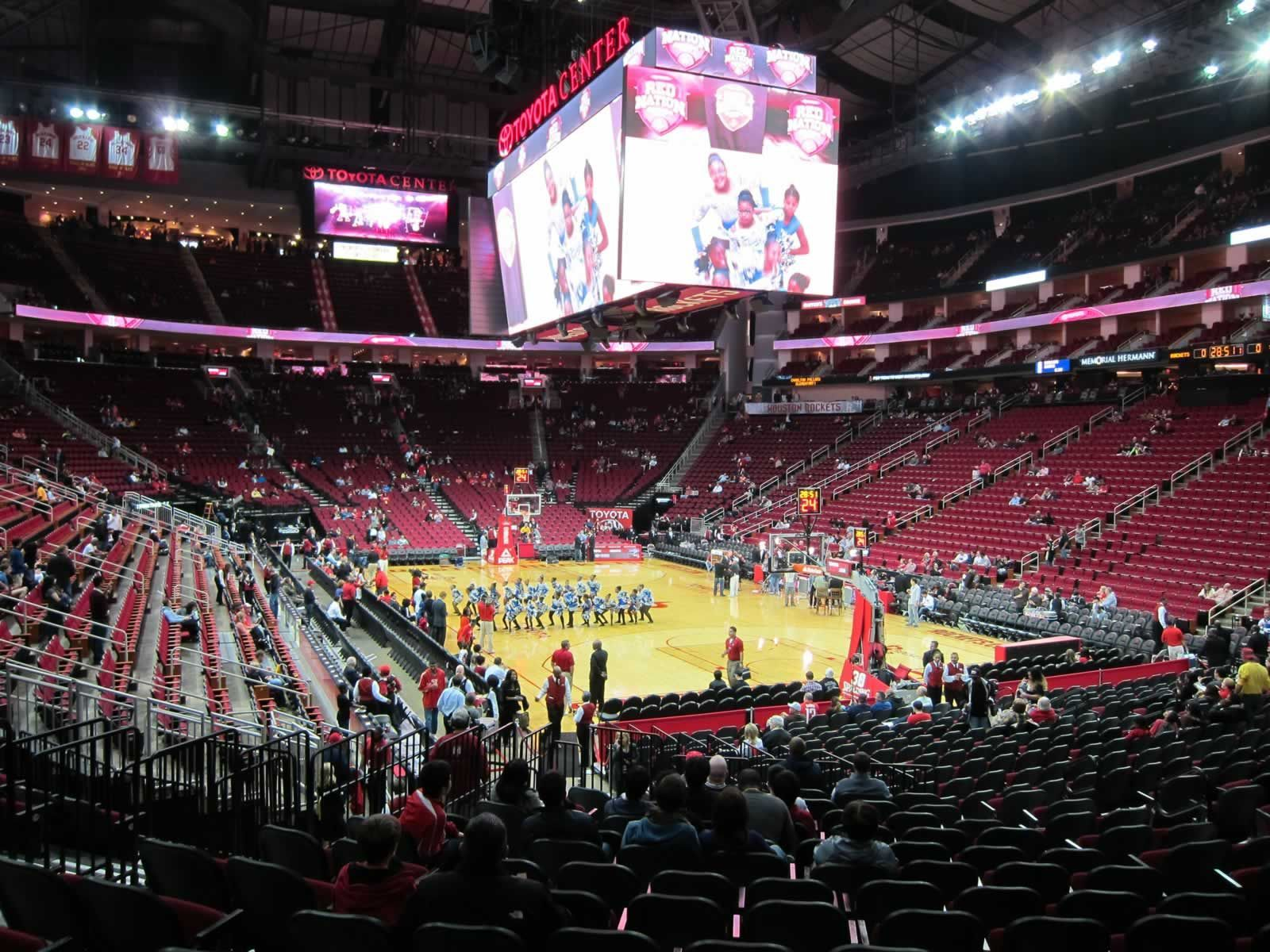 Seat View for Toyota Center Section 102, Row 17, Seat 12