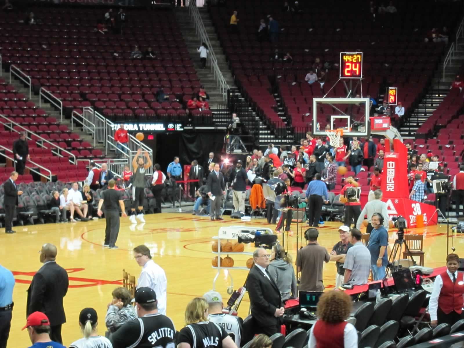 Seat View for Toyota Center Section 123, Row 8, Seat 4