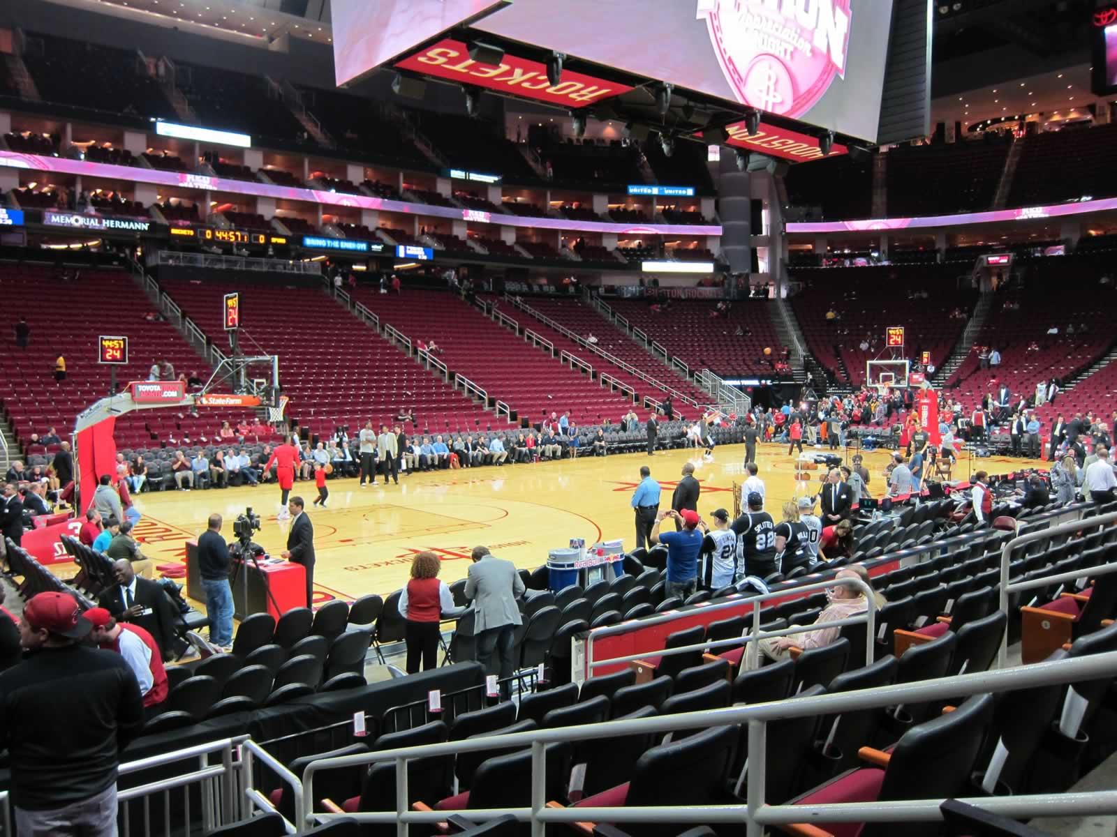 Toyota Center Section 123 Houston Rockets