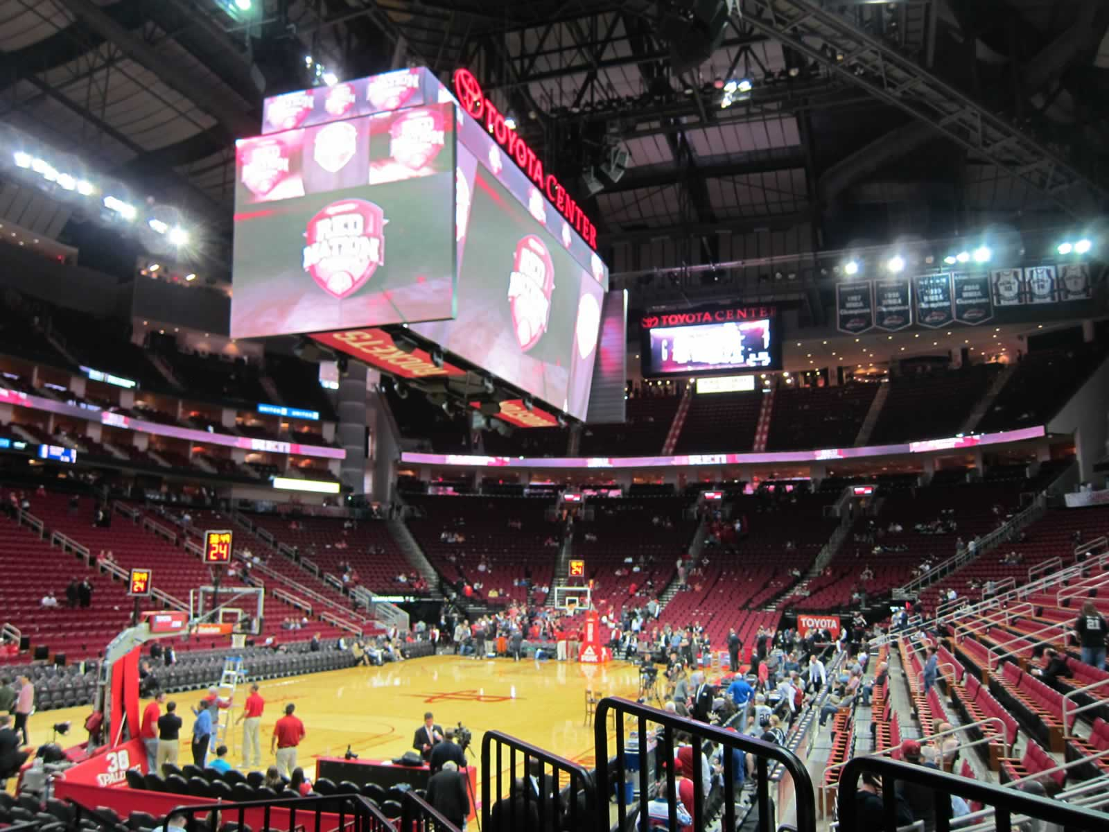 Seat View for Toyota Center Section 125, Row 9, Seat 1