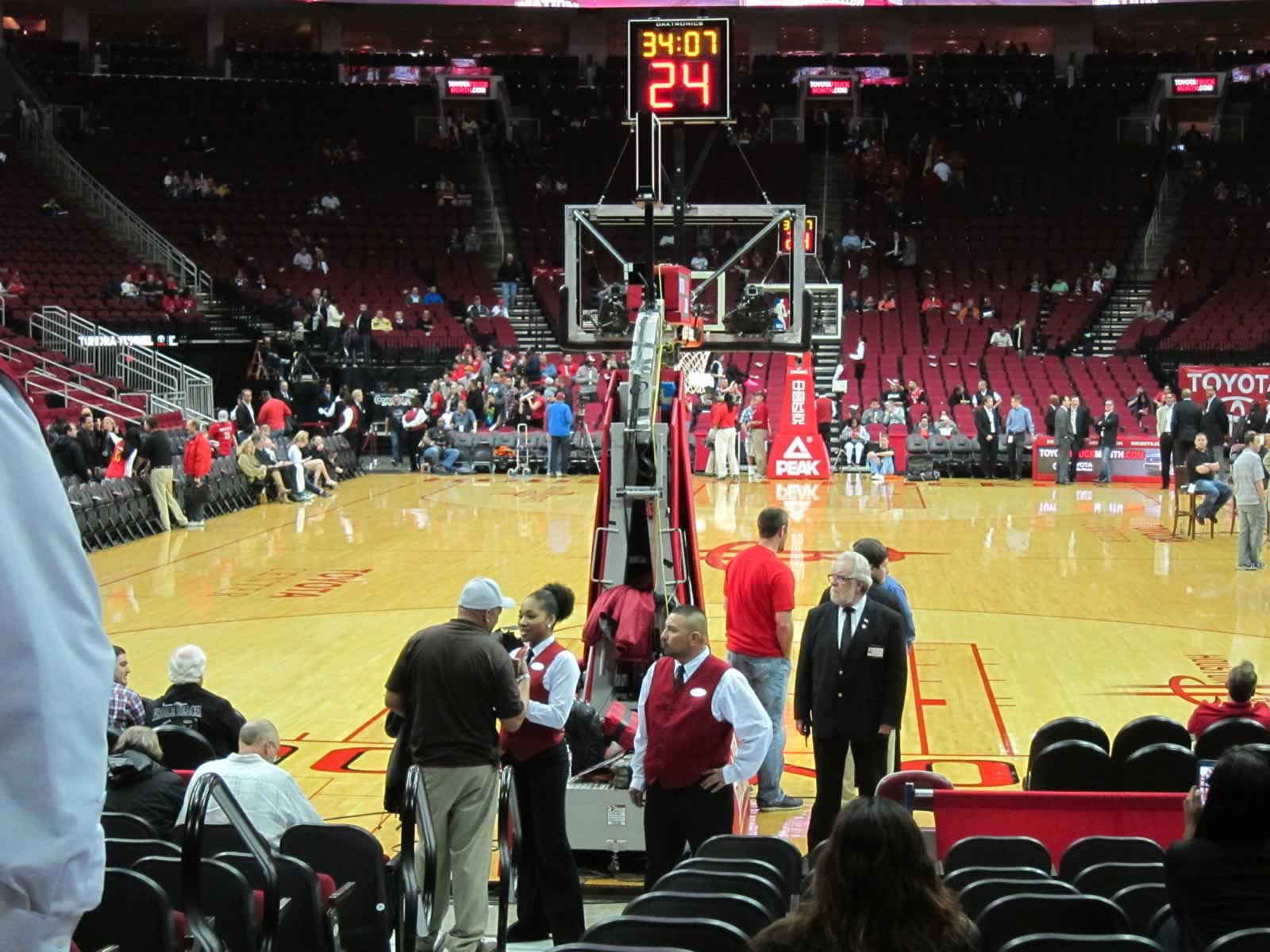 Seat View for Toyota Center Section 126, Row M, Seat 14