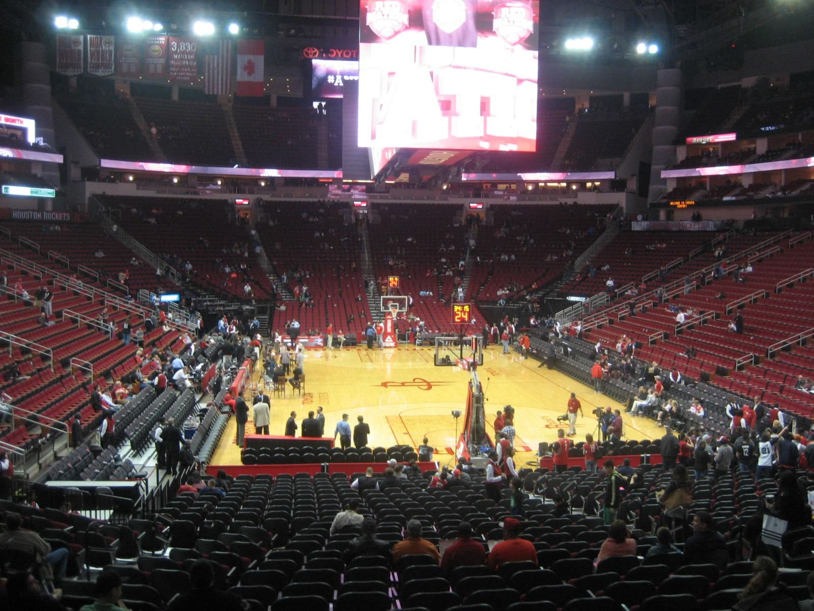 Seat View for Toyota Center Section 114, Row 20