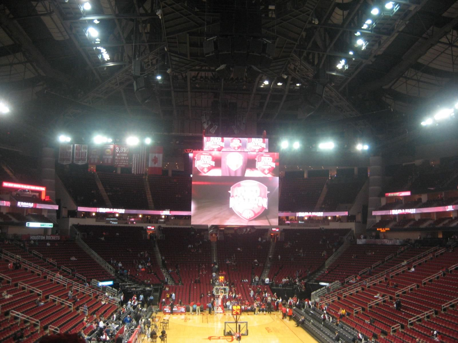 Seat View for Toyota Center Section 114, Row 27, Seat 2