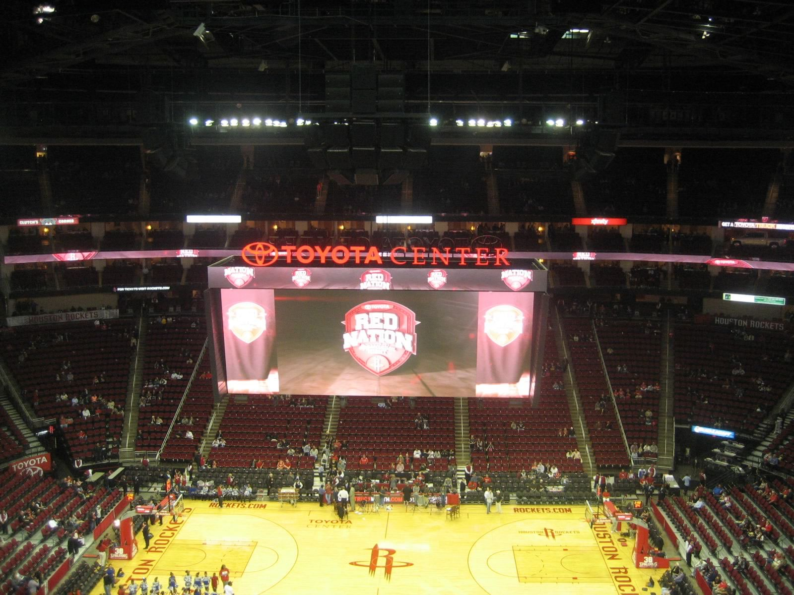 Seat View for Toyota Center Section 409, Row 10