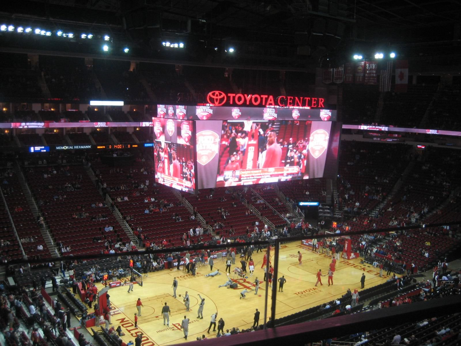 Seat View for Toyota Center Section 413, Row 1, Seat 4