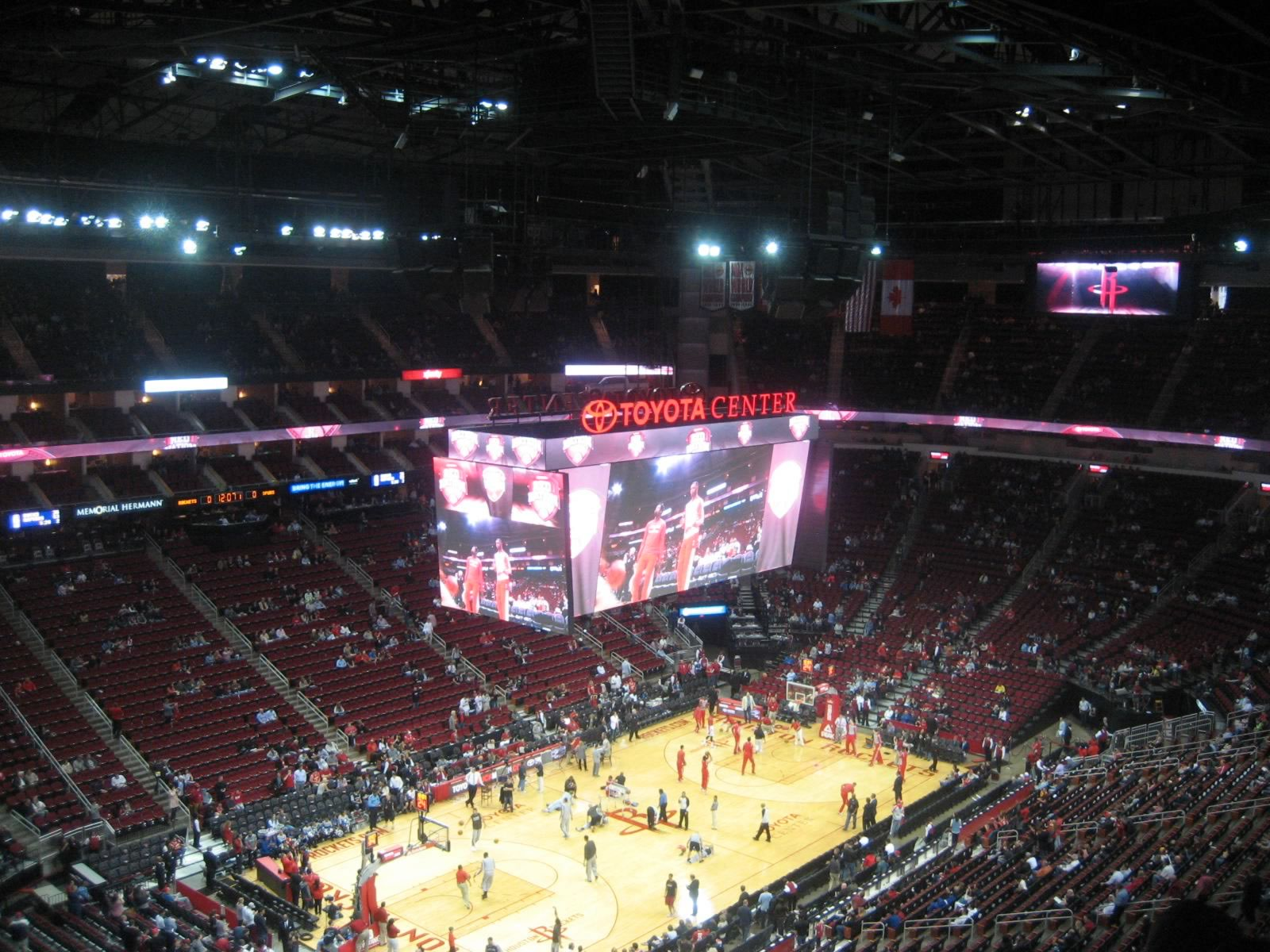 Seat View for Toyota Center Section 414, Row 9, Seat 10