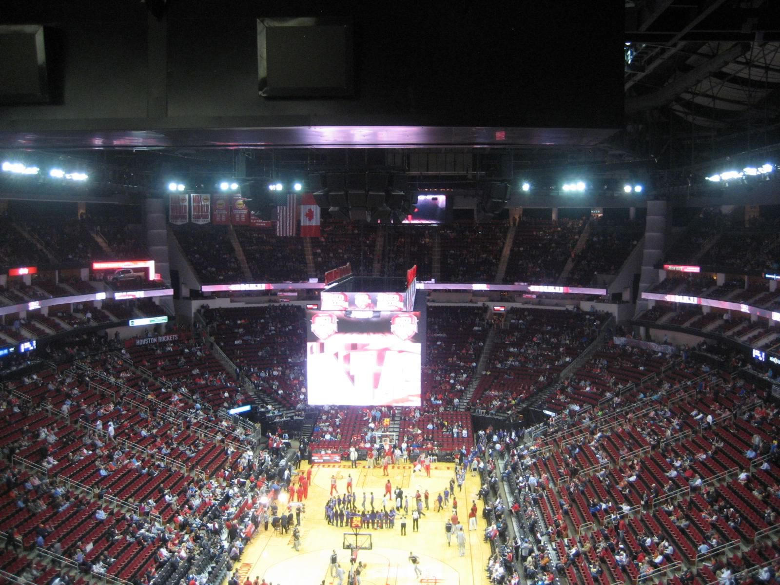 Seat View for Toyota Center Section 417, Row 13, Seat 21