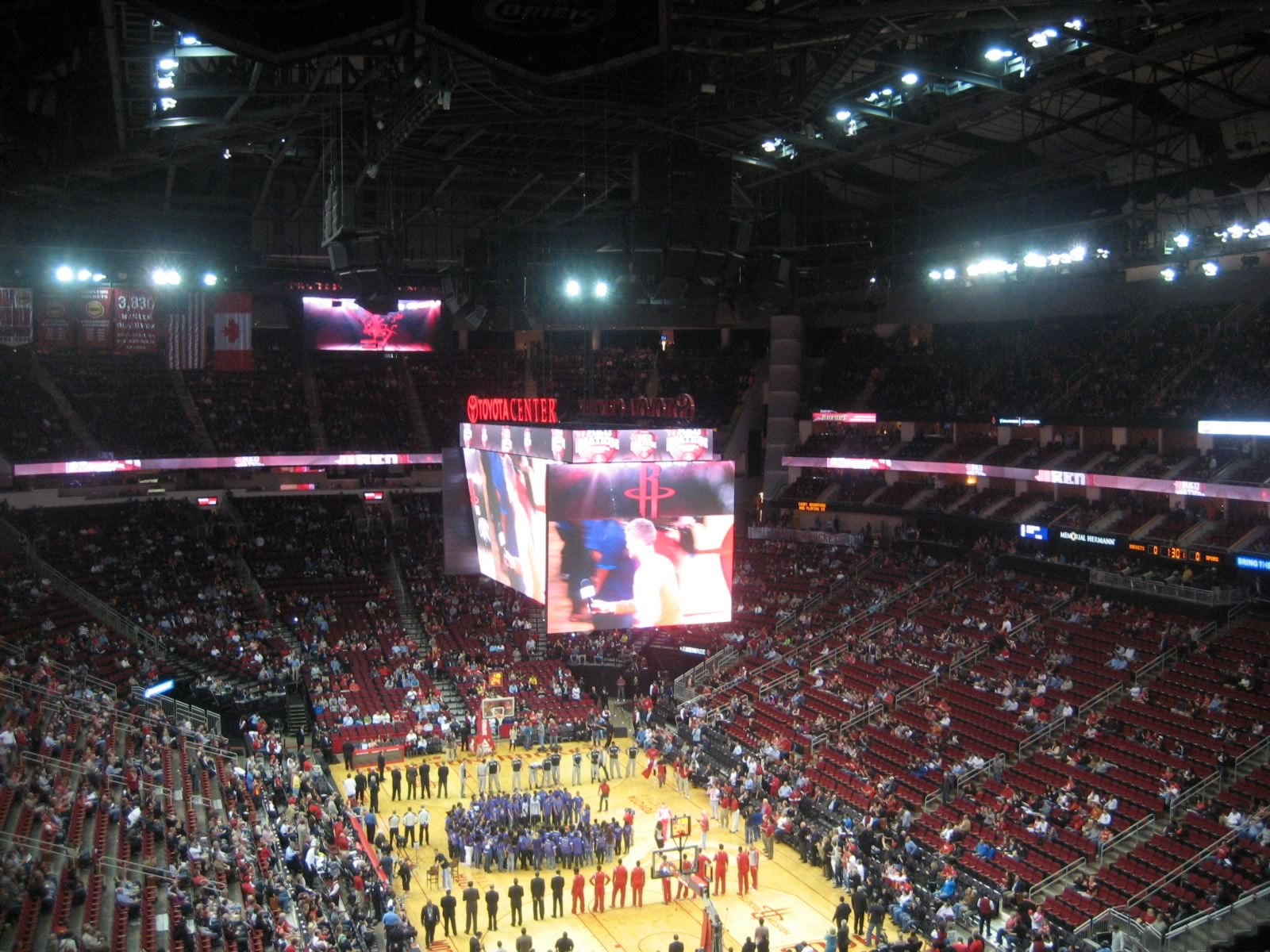 Seat View for Toyota Center Section 420, Row 10