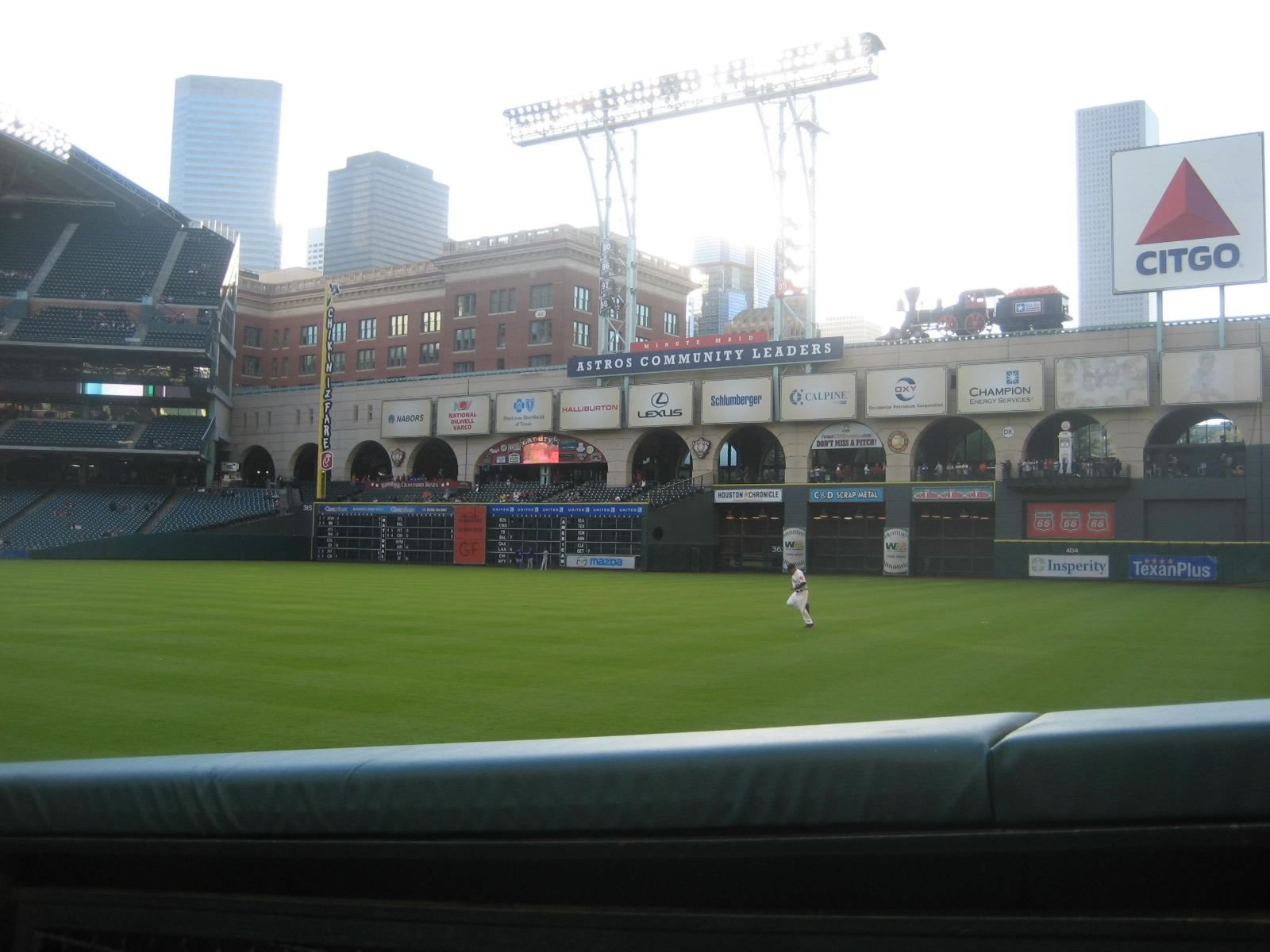 Seat View for Minute Maid Park Section 134, Row 9, Seat 1