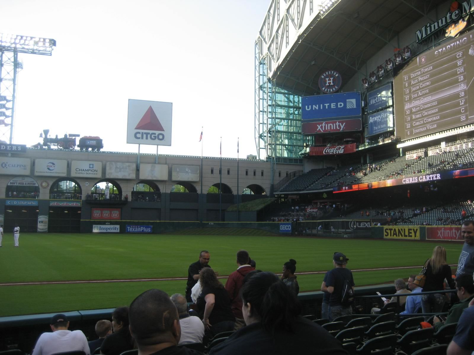 Seat View for Minute Maid Park Section 128, Row 9, Seat 9