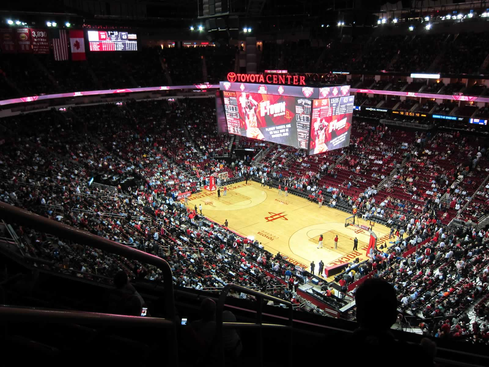 Seat View for Toyota Center Section 422, Row 6, Seat 10