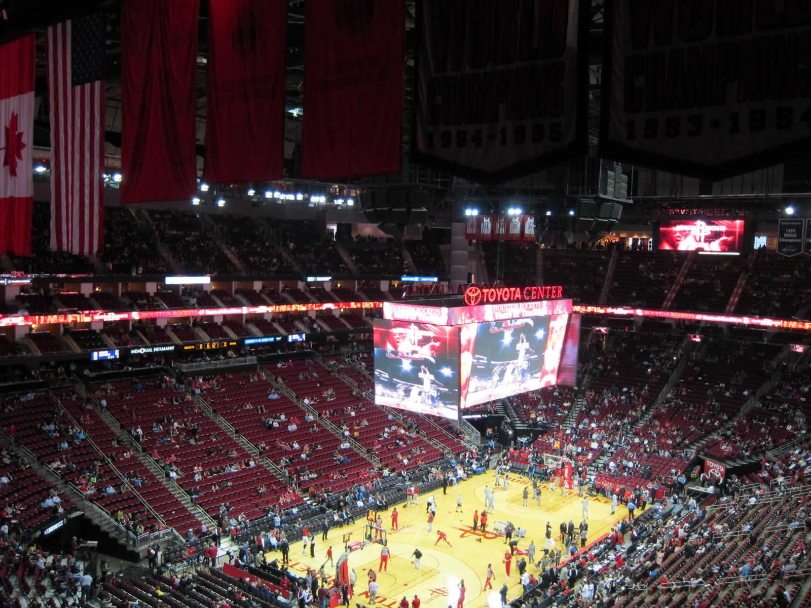 Seat View for Toyota Center Section 432, Row 12, Seat 2