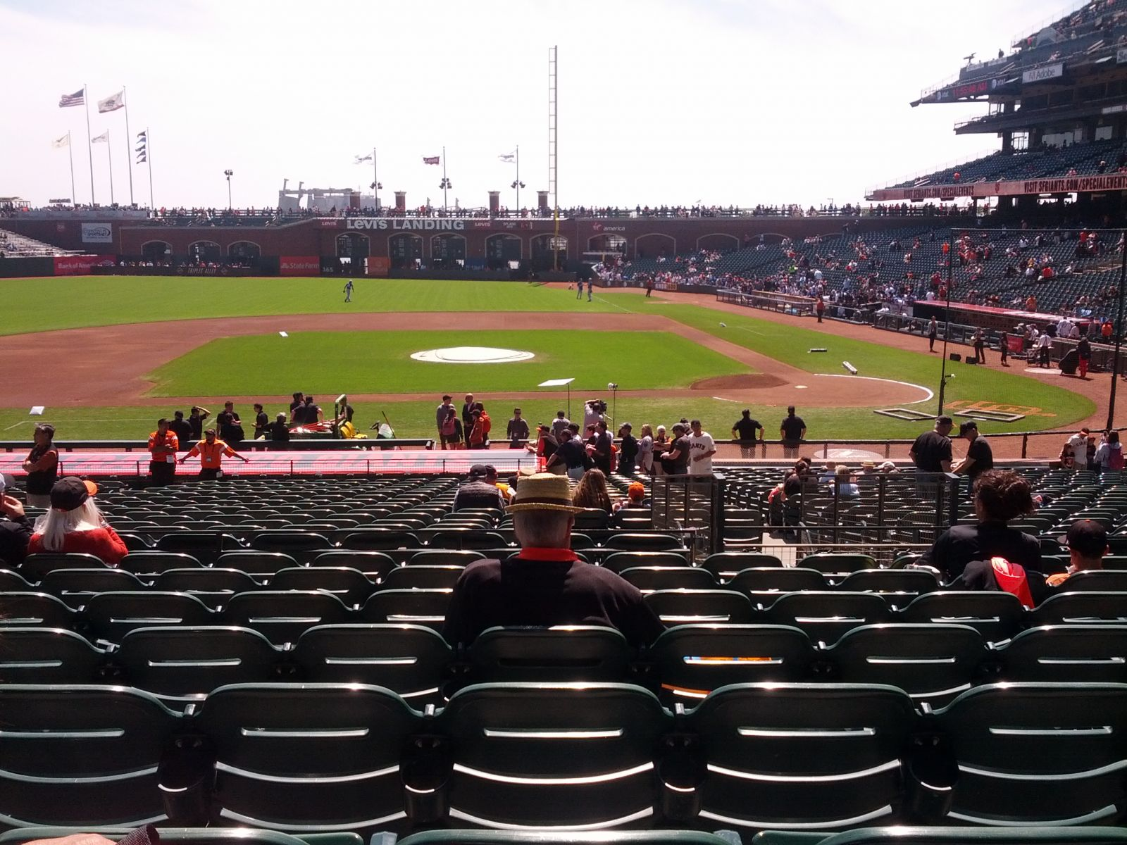 San Francisco Giants Seat View for AT&T Park Section 122, Row 30, Seat 9