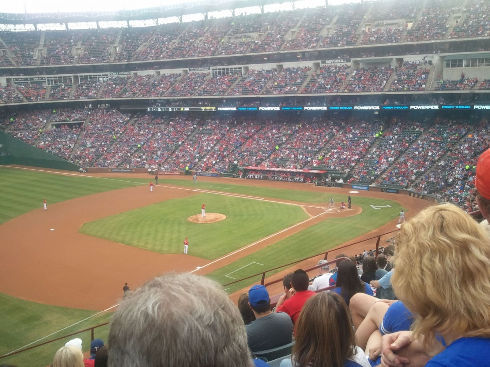 Seat View for Globe Life Park Section 215, Row 8, Seat 9