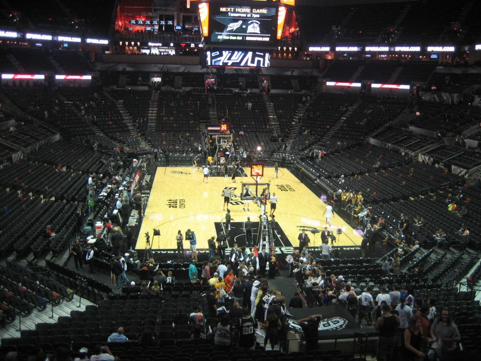 Seat View for AT&T Center Section 101, Row 31