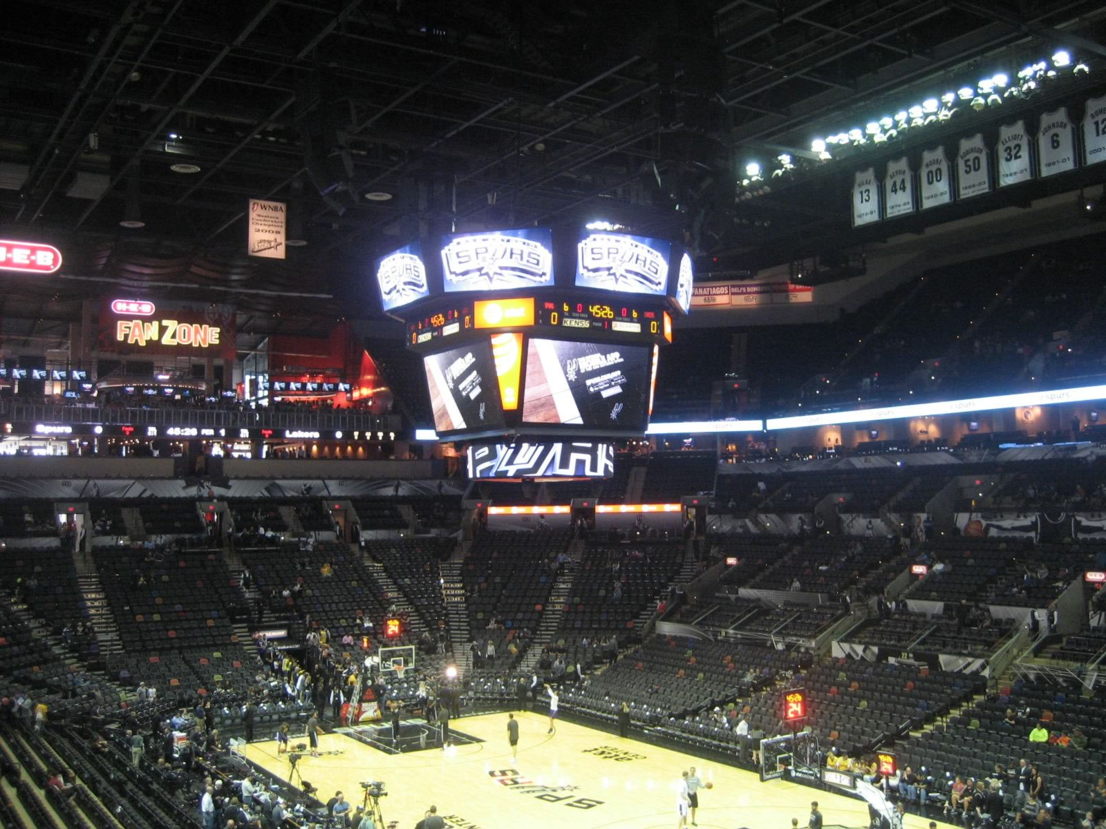 Seat View for AT&T Center Section 103, Row 29, Seat 4