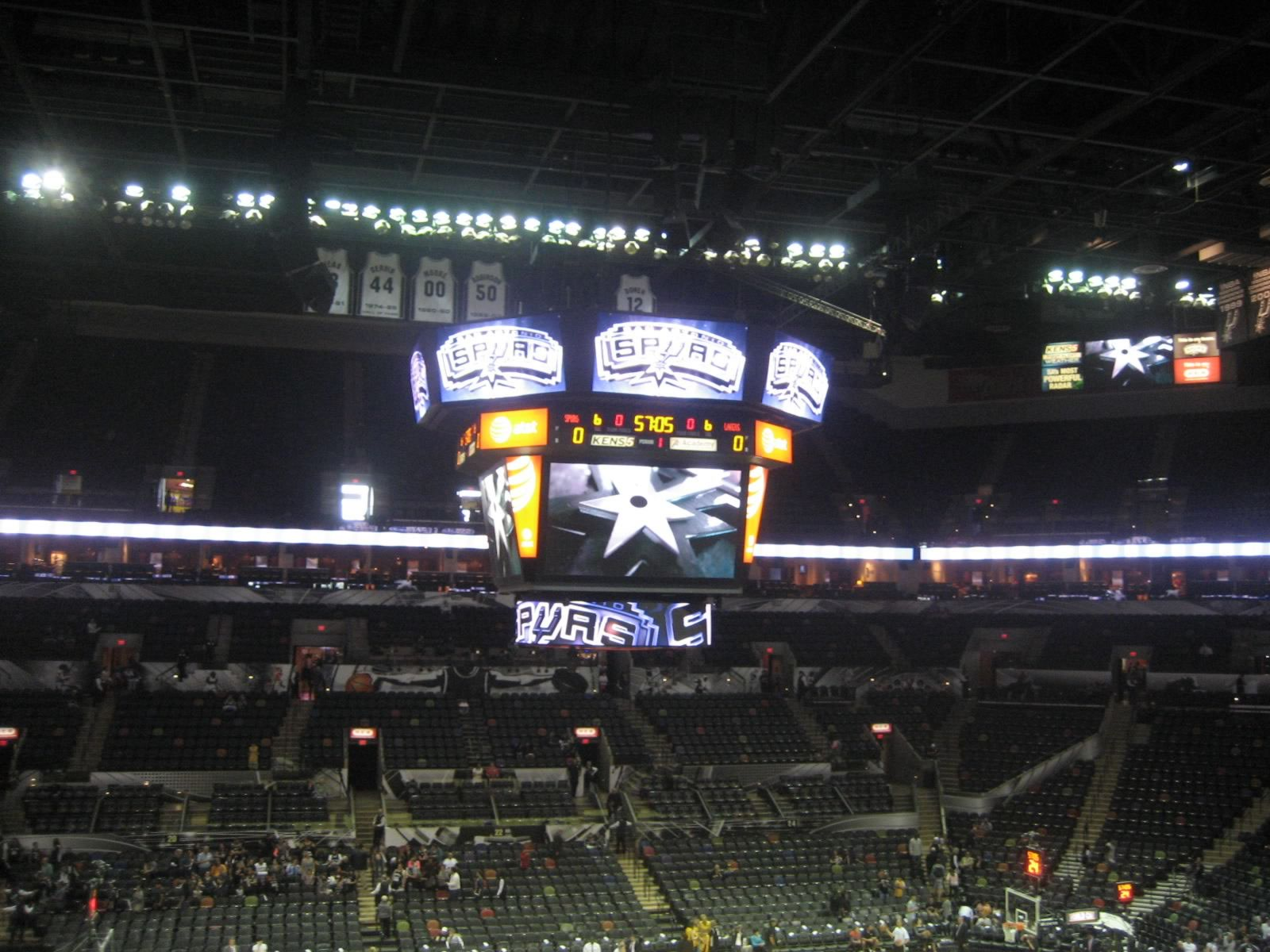 Seat View for AT&T Center Section 108, Row 33, Seat 6